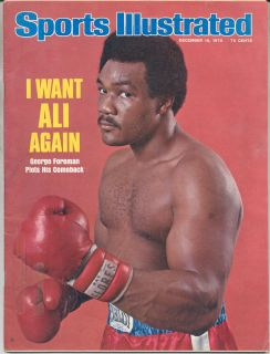Sports Illustrated SI 1975 GEORGE FOREMAN Muhammad Ali Boxing MMA UFC