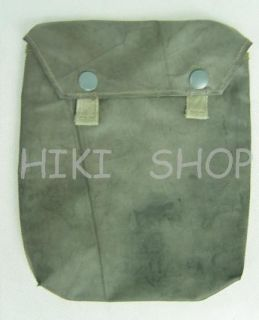 GERMAN WWII gas mask cape pouch Reproduction rubberized   Click Image