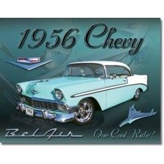 1956 Chevrolet Bel Air Sign Garage Shop Bar Home
