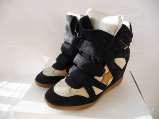 New s s 2013 Isabel Marant Bayley Bekett Bazil Star Black Wedge