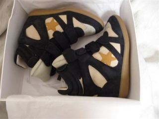 NIB Isabel Marant Bayley leather and suede sneakers shoes  sz FR 37,38