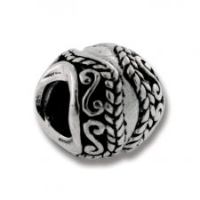 Solid Sterling Silver Braids Bead Charm F European Bracelet