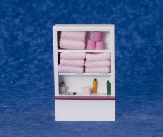 Dollhouse Mini Toilet Bathroom Closet w Accessories