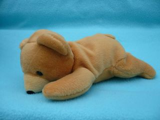 Dan Dee Collectors Choice Bean Bag Friends Plush Brown Bear Laying