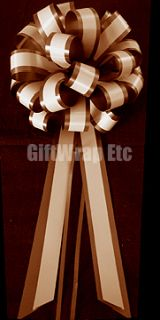 10 Big Ivory Pull Bows Wedding Pew Ribbon Decorations