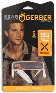 Gerber Bear Grylls Pocket Tool  New Emergency Pocket Knife   Factory
