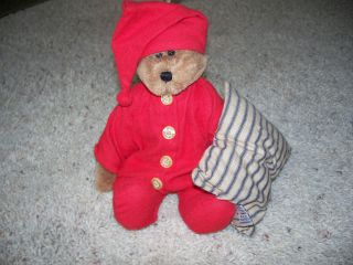 Boyds Bears Jody Battaglia Denton P Stuffed Plush Teddy Red Drop Seat