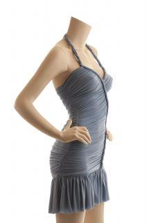 BCBG Max Azria Light Blue Halter Dress New Size M