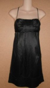 BCBG Paris Black Cocktail Evening Spaghetti Strap Dress Size 6