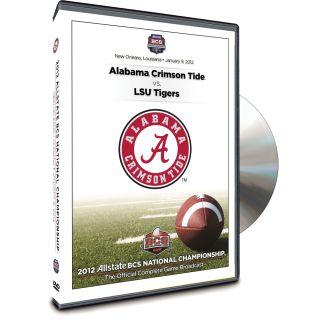 2012 Allstate BCS National Championship Game DVD 2012 Alabama 21 LSU 0