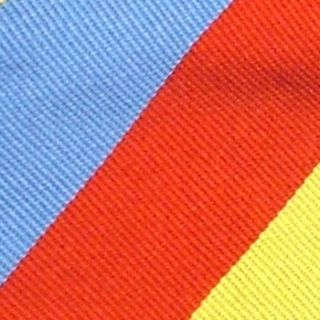 Beau Ties Stripe Baby Blue Red Yellow Thick Silk Business Neck Tie