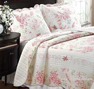 Full Queen Quilt Set Starfish Shell Tropical Beach Comforter
