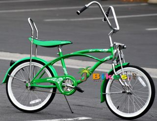 Boys Kids Lowrider Banana Seat Beach Cruiser Bicycle Green Bike