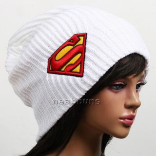 Unisex Superman Beanie Men Women Hat Snowboard Winter Ski Knit Bsup