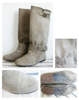 Gorgeous Steve Madden Bayley Riding boot 8 8 5 Stone Grey excellent