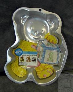 Wilton Shaped Cake Pan 2105 8257 Teddy Bear w Block New Insert 2005