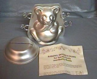Wilton 3D Mini Bear Panda Candy Ice Cream Cake Mold Pan w Instructions