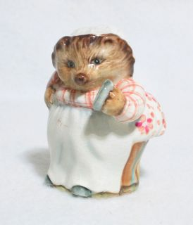 Beswick Beatrix Potter Mrs Tiggy Winkle Figurine Gold Circle RARE