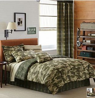 Camouflage Forces Boys Twin Comforter 6pc Bed in A Bag
