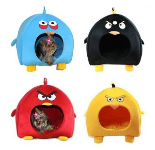 Brand New Big Cute Bird Pet Dog Cat Bed Tent House 4 Colors