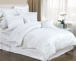 PIECE WHITE BEDDING SET INCLUDES COMFORTER. KING & QUEEN SIZE