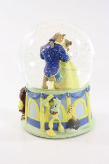 Disney Beauty and the Beast Musical Snow Globe Hallmark 1991