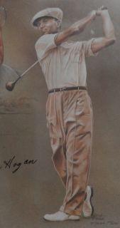 Ben Hogan Autographed Lithograph