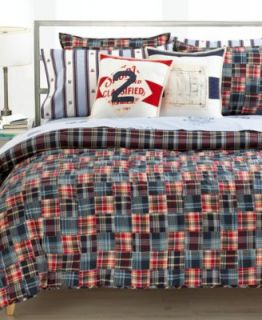 Ralph Lauren Bedding University Layne Madras Twin Plaited Quilt