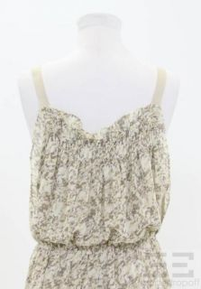 BCBG Paris Tan Cream & Yellow Printed Sleeveless Jumpsuit Size 6