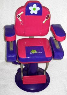 OuR GeNeRaTioN PiNK ADJuSTaBLe BEAUTY SALON CHAIR 4 AMeRiCaN GiRL
