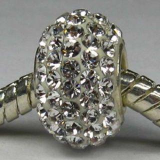 Crystal 925 Sterling Silver Fit European Bead Charm Bracelet