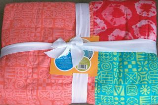 Coral Turquoise Quilt Set Full Queen Bedding