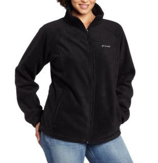 Columbia Womens Plus Benton Springs Full Zip Jacket Black Size 2X New