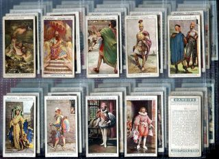 Tobacco Card Set John Player Dandies Antique Costumes Clothing 1932