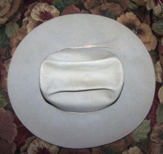 Resistol Silver Belly 3X Beaver Cowboy Western Hat 7 1 8 Super Nice