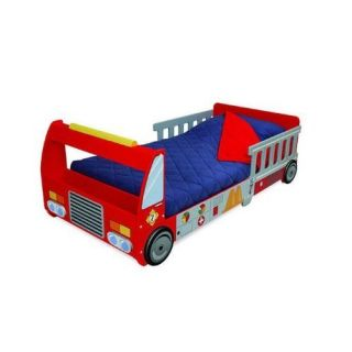 kidkraft fire truck kids toddler cot bed new unique fun design fast