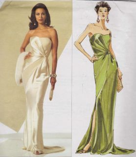 Evening Dress Patterns on Vogue Dress Pattern Gown Bellville Sassoon 2880 L Dance Tango Style 16
