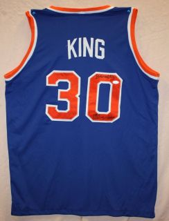 Bernard King Autographed New York Nets Blue Jersey Authenticated by