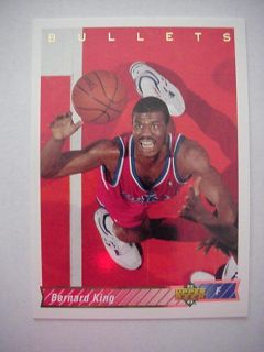92 93 Upper Deck Bernard King Bullets Card 286