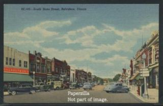 IL Belvidere LINEN 56 SOUTH STATE STREET Cars WOOLWORTH STORE & Signs