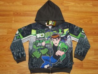 Ben 10 Ultimate Alien Hooded Jacket 987 Charcoal Size 6 age 4 6