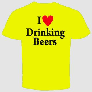 Love Drinking Beers Pub Alcohol Cool Funny T Shirt