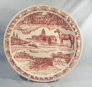 Vintage Vernon Kilns Collector Plate Kentucky State Plate Blue Grass