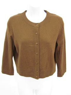 Belford Brown Cashmere Button Up Cardigan Sweater Sz M