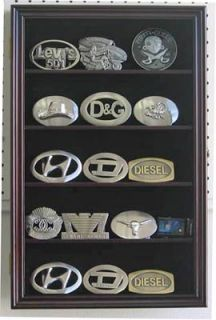 Belt Buckle Display Case Cabinet for Motorcycle Buckle