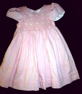 WillBe Willbe Infant Toddler Girl 2 Pink Smocked Corduroy