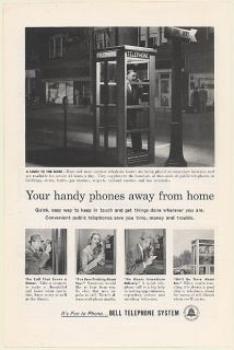 1958 Bell Telephone System Phone Booth Your Handy Phones Away from