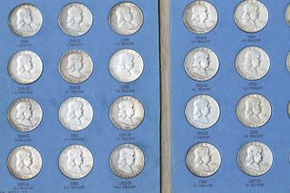 Benjamin Franklin Half Dollar Complete Set