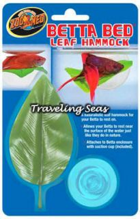 Zoo Med Betta Leaf Hammock Bed Aquarium Fish Ornament Decoration