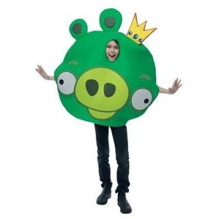 king pig green angry birds child unisex costume one size